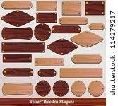 set vector wooden labels | Shutterstock .eps vector #114279217