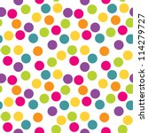 seamless polka dots background. ... | Shutterstock . vector #114279727