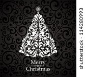 vintage card. celebration... | Shutterstock . vector #114280993