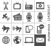 Media Icons. Simplus series. Each icon is a single object (compound path)   Shutterstock vector #114283147
