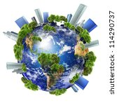 earth with the different... | Shutterstock . vector #114290737