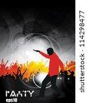 dancing people. vector... | Shutterstock .eps vector #114298477