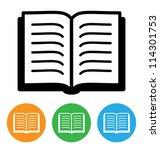 open book icon | Shutterstock . vector #114301753