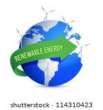 renewal energy globe concept... | Shutterstock . vector #114310423