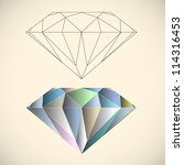 diamond. vector illustration | Shutterstock .eps vector #114316453