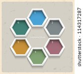 3d geometric colored numbered... | Shutterstock .eps vector #114317287