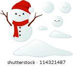 vector illustration of a cute... | Shutterstock .eps vector #114321487