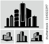 buildings set. | Shutterstock .eps vector #114322297