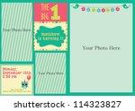 kid invitation card design.... | Shutterstock .eps vector #114323827