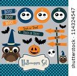 halloween set. vector...   Shutterstock .eps vector #114324547