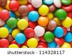 Closeup Of Colorful Chocolate...