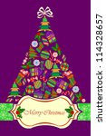 composite christmas tree ... | Shutterstock .eps vector #114328657