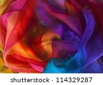 silk rainbow scarf