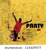music event background. vector... | Shutterstock .eps vector #114339577