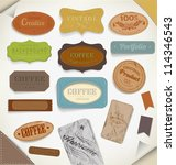 vector retro vintage label  old ... | Shutterstock .eps vector #114346543