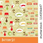 retro pattern collection.... | Shutterstock .eps vector #114356647