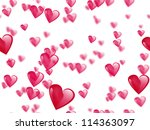 seamless pink hearts pattern on ... | Shutterstock . vector #114363097
