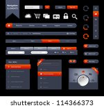 this is a set of customizable...   Shutterstock .eps vector #114366373