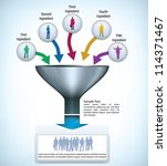 funnel presentation template... | Shutterstock .eps vector #114371467