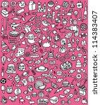 big doodle icons set  ... | Shutterstock .eps vector #114383407