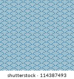 wave simple seamless blue... | Shutterstock .eps vector #114387493