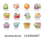 business icons | Shutterstock .eps vector #114406087