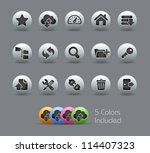 ftp   hosting icons    pearly... | Shutterstock .eps vector #114407323