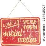 social media and network ... | Shutterstock .eps vector #114415027