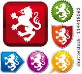 heraldic lion icon | Shutterstock .eps vector #114418063