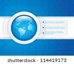 world technology brochure vector