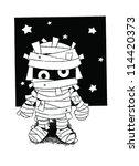 standing mummy halloween...   Shutterstock .eps vector #114420373
