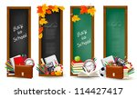 back to school. four banners... | Shutterstock .eps vector #114427417