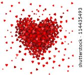 valentines composition of the... | Shutterstock .eps vector #114435493