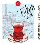 turkish tea | Shutterstock .eps vector #114439093