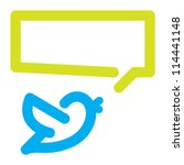 Bird tweets icon - stock vector