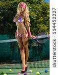 sexy tennis girl | Shutterstock . vector #114452227