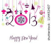 2013 happy new year background. | Shutterstock .eps vector #114452407
