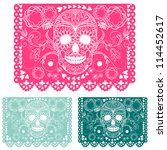 day of the dead decoration.... | Shutterstock .eps vector #114452617