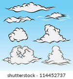 various sky clouds | Shutterstock .eps vector #114452737