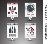 Set of wine labels. Vector - stock vector