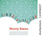 xmas vector background with... | Shutterstock .eps vector #114456037