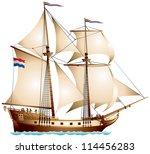 brigantine sailing vessel  two...   Shutterstock .eps vector #114456283