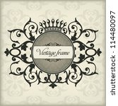 vintage frame with crown | Shutterstock .eps vector #114480097