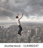 concept of a businessman that... | Shutterstock . vector #114480247