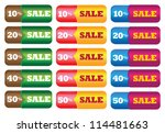 vector illustration of sale... | Shutterstock .eps vector #114481663