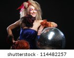 carnaval girl with disco ball | Shutterstock . vector #114482257