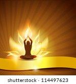 beautiful lotus flower like... | Shutterstock .eps vector #114497623