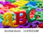 Plastic alphabet letters - stock photo