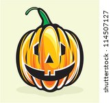 holiday pumpkin jack lantern | Shutterstock .eps vector #114507127