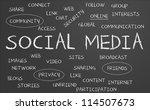 social media word cloud written ... | Shutterstock . vector #114507673